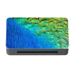 Blue Peacock Feathers Memory Card Reader With Cf