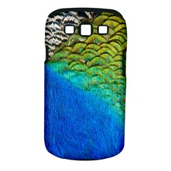 Blue Peacock Feathers Samsung Galaxy S Iii Classic Hardshell Case (pc+silicone)