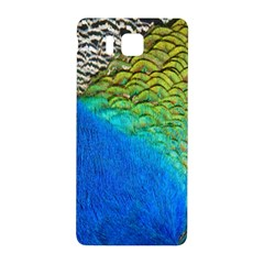 Blue Peacock Feathers Samsung Galaxy Alpha Hardshell Back Case