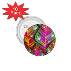 Bubbles Colorful Leaves 1 75  Buttons (10 Pack) by AnjaniArt