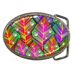 Bubbles Colorful Leaves Belt Buckles by AnjaniArt