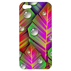 Bubbles Colorful Leaves Apple Iphone 5 Hardshell Case by AnjaniArt