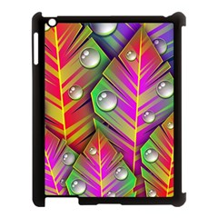 Bubbles Colorful Leaves Apple Ipad 3/4 Case (black)