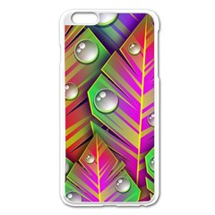 Bubbles Colorful Leaves Apple Iphone 6 Plus/6s Plus Enamel White Case by AnjaniArt