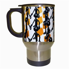 Business Men Marching Concept Travel Mugs (white) by AnjaniArt