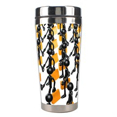 Business Men Marching Concept Stainless Steel Travel Tumblers by AnjaniArt