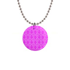 Pink Elegant Pattern Button Necklaces