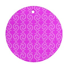 Pink Elegant Pattern Round Ornament (two Sides)  by Valentinaart