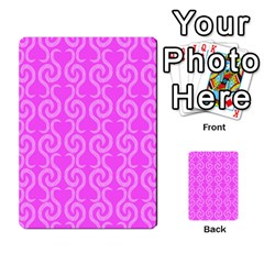 Pink Elegant Pattern Multi Purpose Cards (rectangle)  by Valentinaart