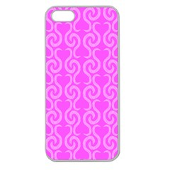 Pink Elegant Pattern Apple Seamless Iphone 5 Case (clear) by Valentinaart