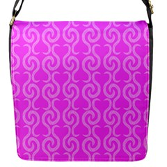 Pink Elegant Pattern Flap Messenger Bag (s) by Valentinaart
