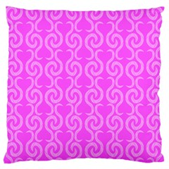 Pink Elegant Pattern Large Flano Cushion Case (one Side) by Valentinaart