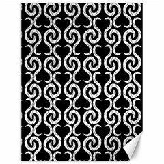 Black And White Pattern Canvas 12  X 16   by Valentinaart