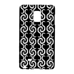Black And White Pattern Galaxy Note Edge by Valentinaart