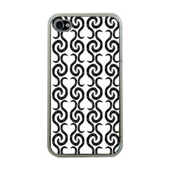 White And Black Elegant Pattern Apple Iphone 4 Case (clear) by Valentinaart