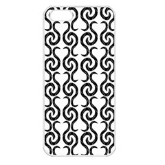 White And Black Elegant Pattern Apple Iphone 5 Seamless Case (white) by Valentinaart