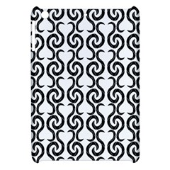 White And Black Elegant Pattern Apple Ipad Mini Hardshell Case by Valentinaart