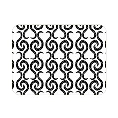 White And Black Elegant Pattern Double Sided Flano Blanket (mini)  by Valentinaart