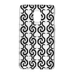 White And Black Elegant Pattern Galaxy Note Edge by Valentinaart