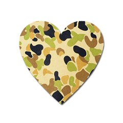 Camouflage Pattern Army Heart Magnet