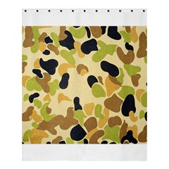 Camouflage Pattern Army Shower Curtain 60  X 72  (medium)  by AnjaniArt