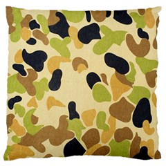 Camouflage Pattern Army Standard Flano Cushion Case (two Sides)