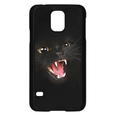Cat Animal Cute Samsung Galaxy S5 Case (black) by AnjaniArt