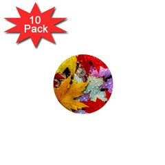 Coloorfull Leave 1  Mini Magnet (10 Pack)  by AnjaniArt