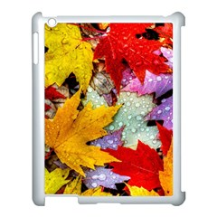 Coloorfull Leave Apple Ipad 3/4 Case (white) by AnjaniArt