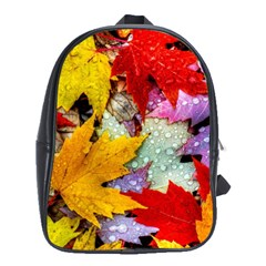 Coloorfull Leave School Bags (xl)
