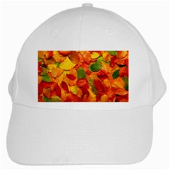 Colorful Fall Leaves White Cap