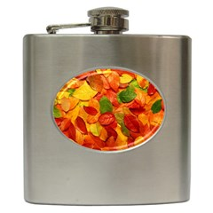Colorful Fall Leaves Hip Flask (6 Oz)