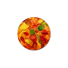Colorful Fall Leaves Golf Ball Marker by AnjaniArt