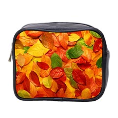 Colorful Fall Leaves Mini Toiletries Bag 2 Side by AnjaniArt