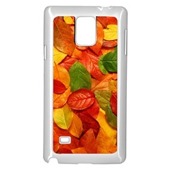 Colorful Fall Leaves Samsung Galaxy Note 4 Case (white)