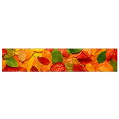 Colorful Fall Leaves Flano Scarf (small) by AnjaniArt
