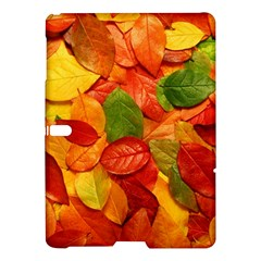 Colorful Fall Leaves Samsung Galaxy Tab S (10 5 ) Hardshell Case  by AnjaniArt