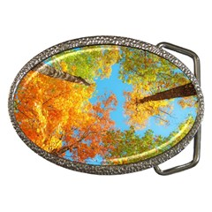 Colorful Leaves Sky Belt Buckles by AnjaniArt