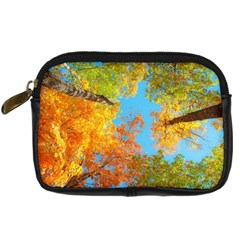 Colorful Leaves Sky Digital Camera Cases by AnjaniArt