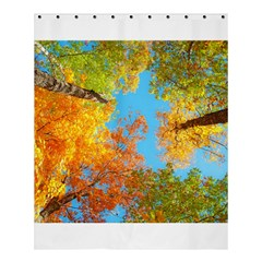 Colorful Leaves Sky Shower Curtain 60  X 72  (medium)  by AnjaniArt