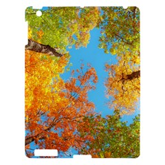 Colorful Leaves Sky Apple Ipad 3/4 Hardshell Case by AnjaniArt