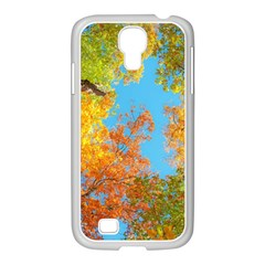 Colorful Leaves Sky Samsung Galaxy S4 I9500/ I9505 Case (white) by AnjaniArt