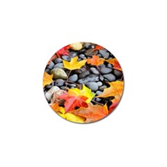 Colorful Leaves Stones Golf Ball Marker (4 Pack) by AnjaniArt
