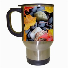 Colorful Leaves Stones Travel Mugs (white) by AnjaniArt