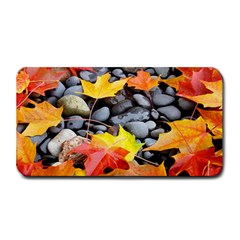 Colorful Leaves Stones Medium Bar Mats by AnjaniArt