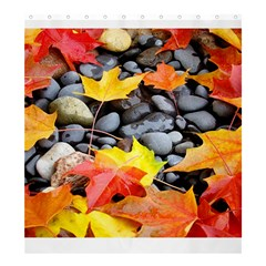 Colorful Leaves Stones Shower Curtain 66  X 72  (large)  by AnjaniArt