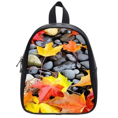 Colorful Leaves Stones School Bags (small)  by AnjaniArt