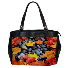 Colorful Leaves Stones Office Handbags
