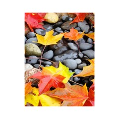 Colorful Leaves Stones Shower Curtain 48  X 72  (small)  by AnjaniArt