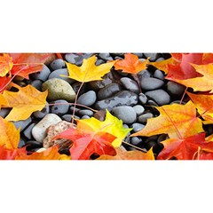 Colorful Leaves Stones You Are Invited 3d Greeting Card (8x4) by AnjaniArt